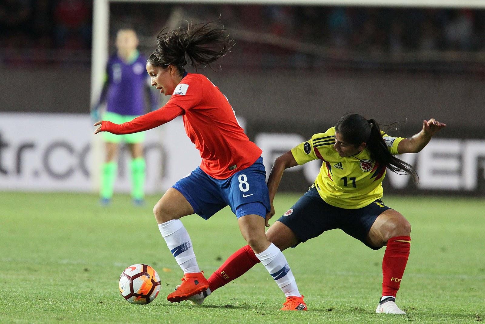 Chile y Colombia en Copa América Femenina 2018, 6 de abril