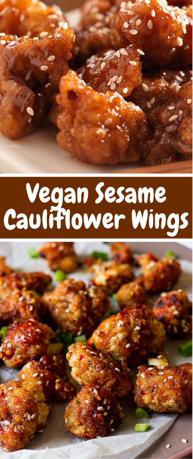 Sticky Sesame Vegan Cauliflower Wings #veganrecipe #perfectgame