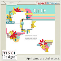 April 2016 - Template Challenge 2 by Tinci Designs