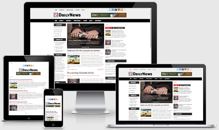 DailyNews Blogger Template
