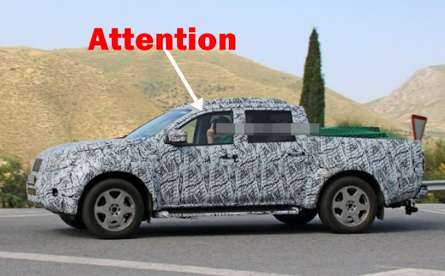 2018 Mercedes GLT Pick Up Truck Spy Shots