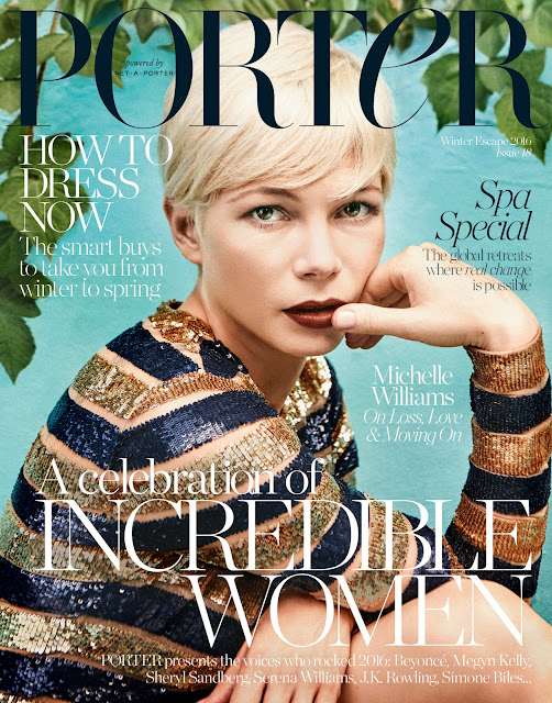 Actress, @ Michelle Williams - Porter US Winter Escape 2016
