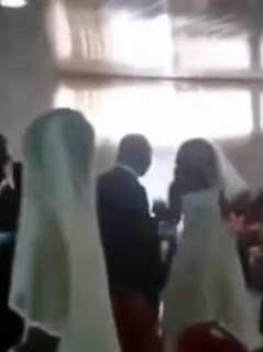 Chaos Erupted In a Wedding in Ghana after Groom's Side-Chick Turns Up in a Wedding Gown (See Video)