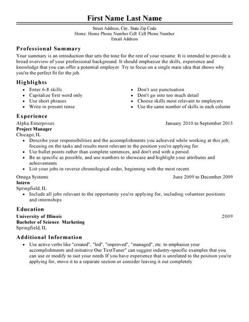 latest resume templates