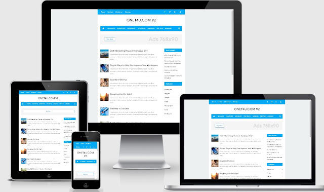 Download Nubie Fast  Responsive Blogger Template Blue Version Redesign