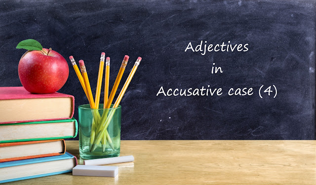 Adjectives in Accusative case.