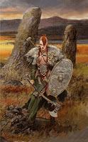 Kriegerin von Clan der Gaelier