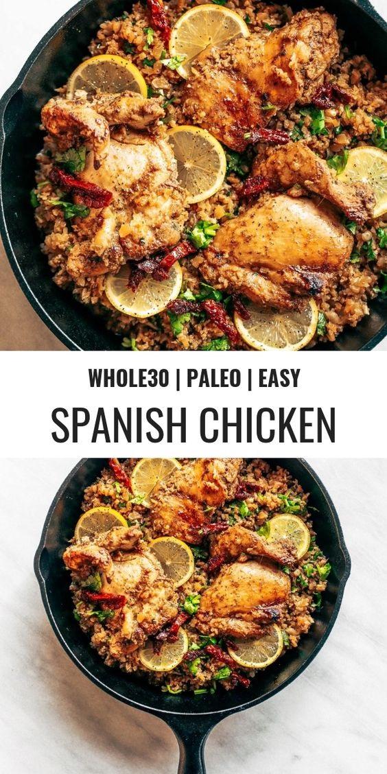 Whole30 Spanish Chicken And Cauliflower Rice