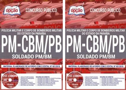 apostila concurso Bombeiros-PB Curso de Formação de Soldados PM-BM