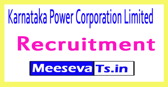 Karnataka Power Corporation Limited KPCL Recruitment Notification 2017