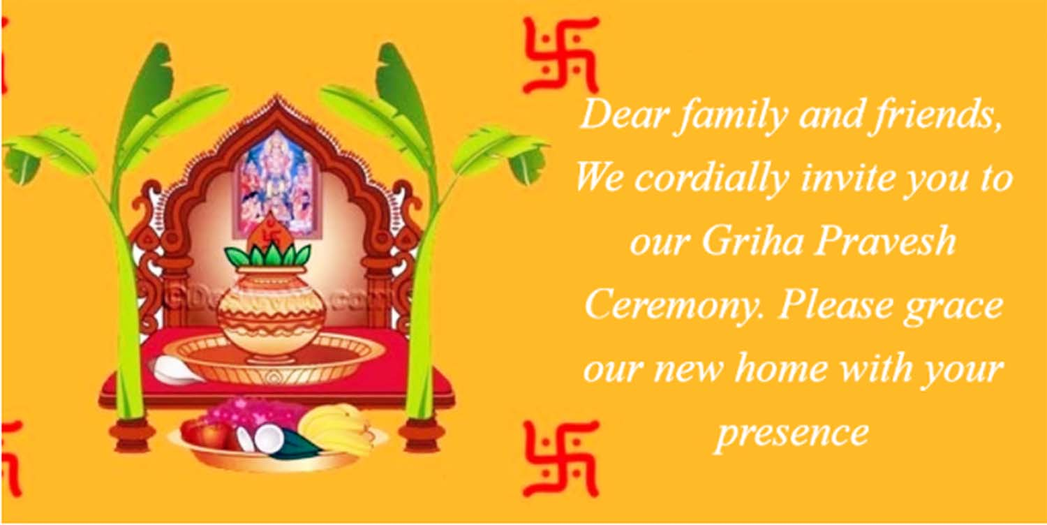 Griha pravesh invitation indian house warming ceremony invitation griha pravesh invitation cards stopboris Choice Image