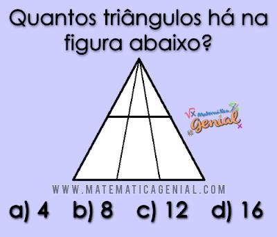 Desafio -  Quantos triângulos há na figura abaixo?