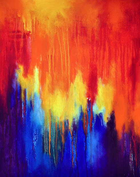 Abstract Rainbow Painting