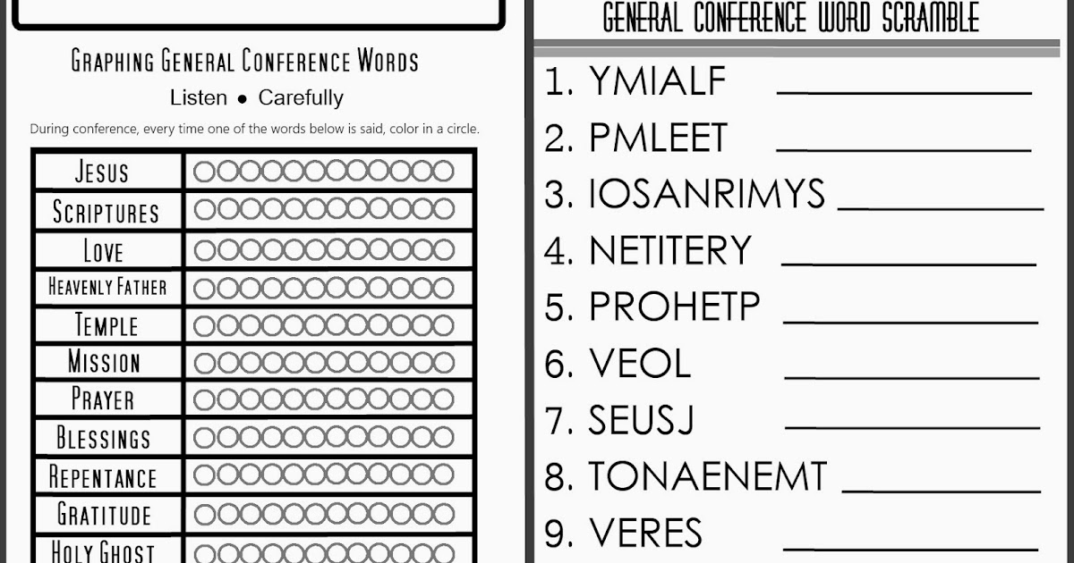 Life S Journey To Perfection General Conference Printable
