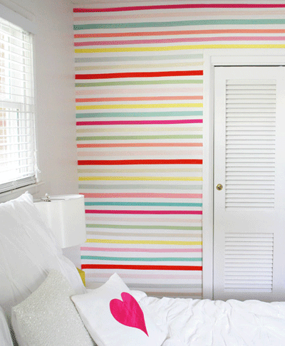 Pared personalizada con washi tape