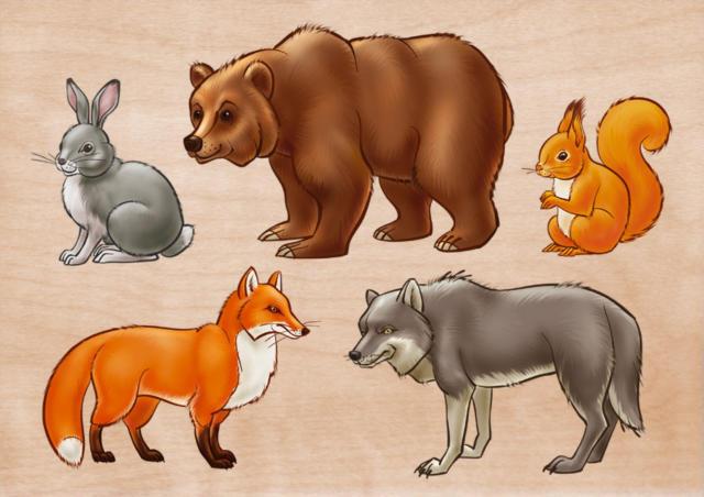 картинки для детей дикие звери