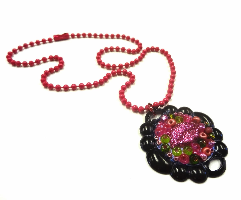 Boho Gypsy Style Jewelry Clay Pendant