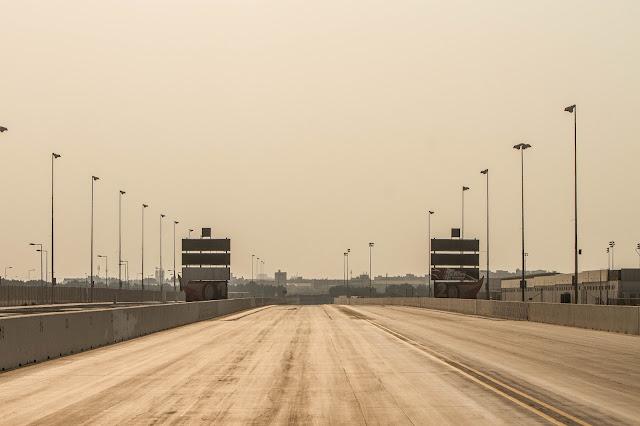 David Cook in Qatar Racing Club preparing track for new racing season