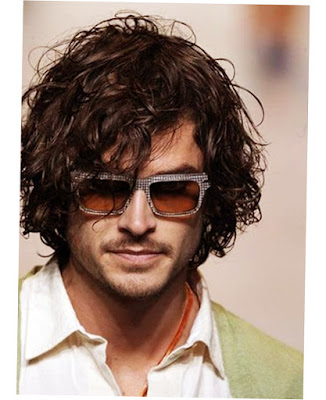 Mens Long Curly Hairstyles Black Color Style
