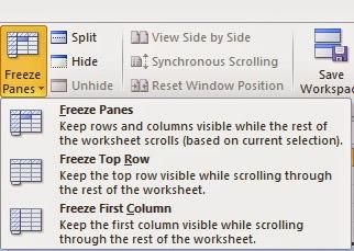 Macam mana nak buat Freeze Panes di Microsoft excel?