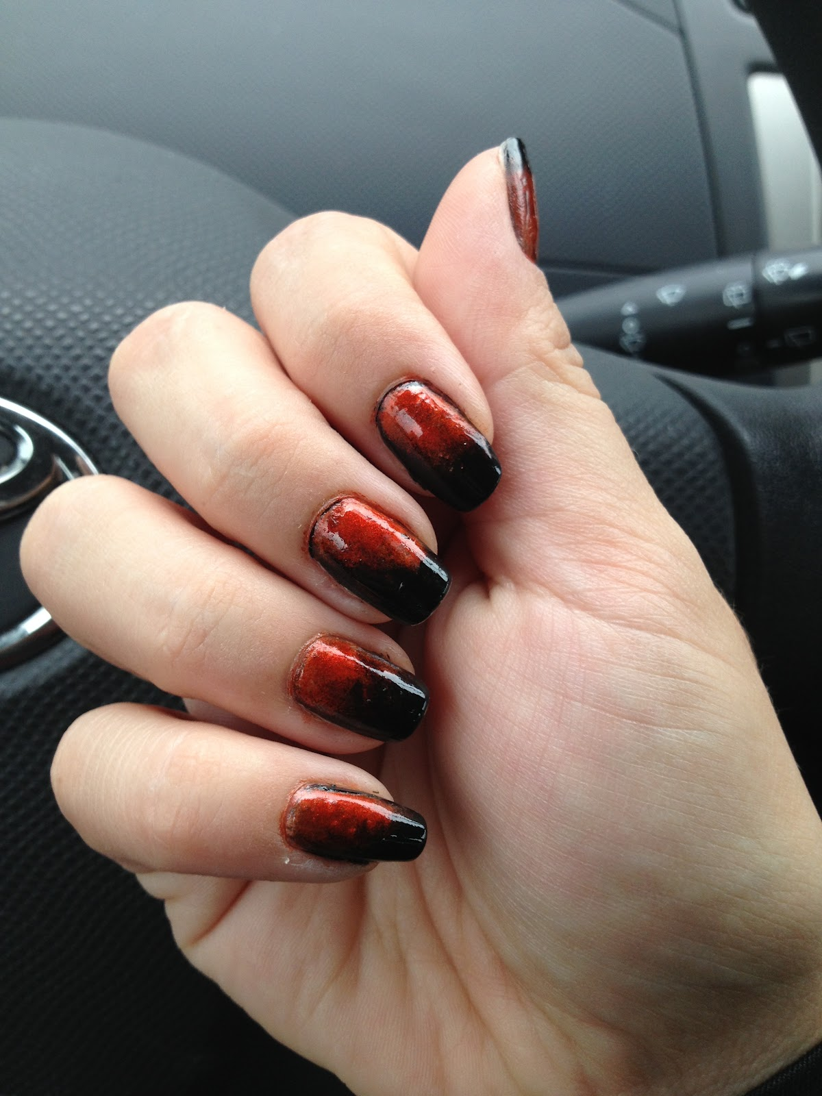 Wild Edgy Nails..: Orange to Black Ombre