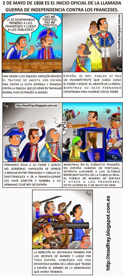 El 2 de mayo de 1808  explicado en viñetas en 9 viñetas