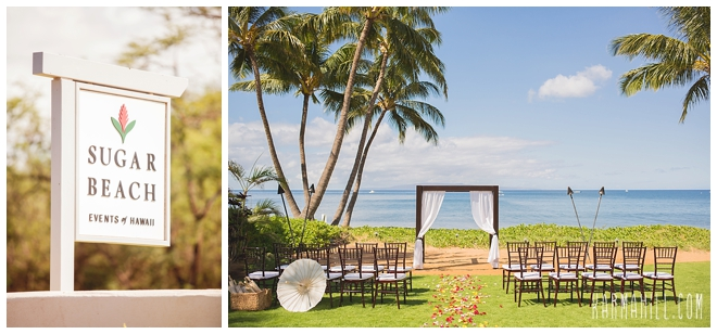 Sayuri Makoto S Maui Wedding At Sugar Beach Events By Simple
