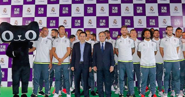 El Madrid se asocia con el gigante Alibaba
