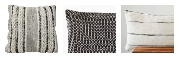 Large pattern + small pattern + lumbar pillow combination