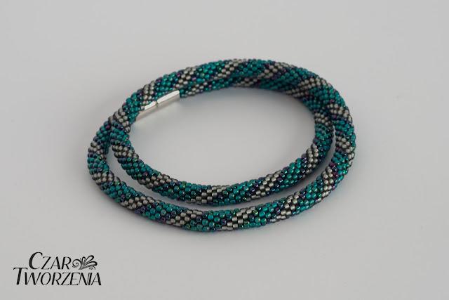 spiralki niebieski turkusowy