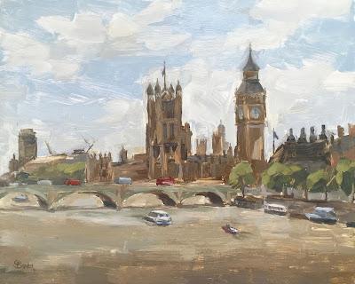#92 'Big Ben & Houses of Parliament' 8×10″