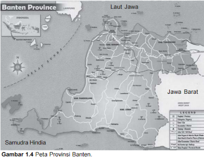 Peta Topografi : Provinsi Banten