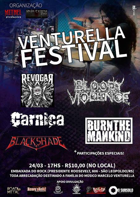 "Carniça: participando do ""Venturella Festival"""