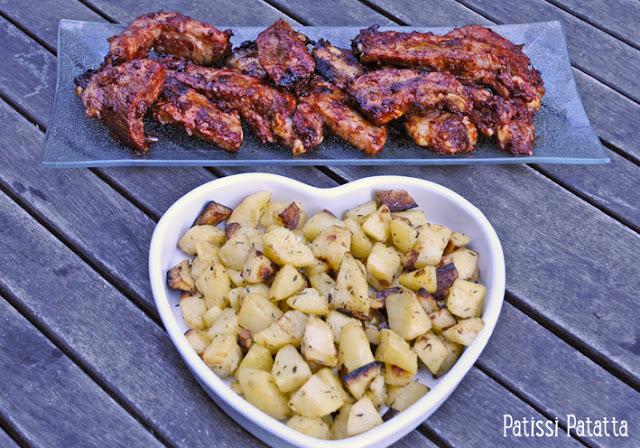recette de travers de porc, recette de travers de porc au barbecue, recette au barbecue, spare ribs au barbecue, barbecued spare ribs, pommes de terre au barbecue, cuisiner au barbecue, marinade pour travers de porc, marinade pour barbecue, que cuire au barbecue, cuisine d'été,