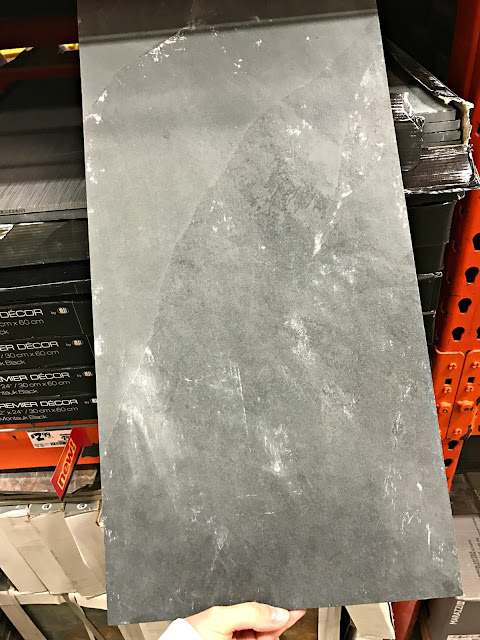 Dark gray tile Home Depot