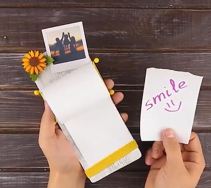 DIY handmade Punny kids Cactus Notebook