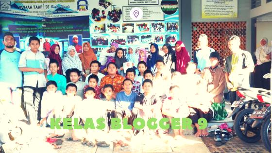 Kelas Blogger 9 di Rumah  Tahfidz Bakti Ilahi
