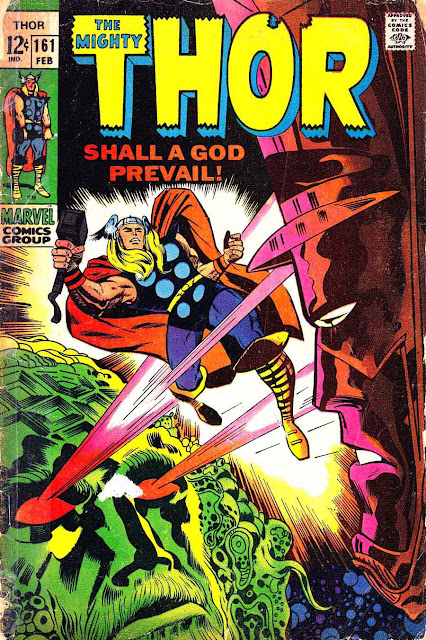 Thor v1 #161 marvel 1960s silver age comic book cover art by Jack Kirby