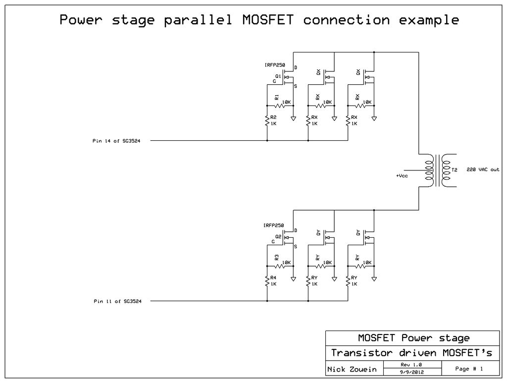 Dc To Ac Inverter Schematic Diagram Hayward Super Ii Pump Motor Wiring Build A 250 5000 Watts Pwm 220v Power