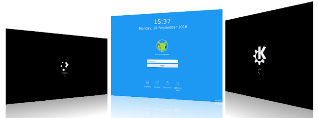 KDE plasma 5.8 login-screen
