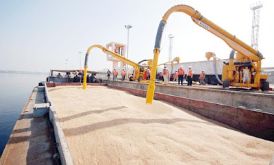 ميناء الإسكندرية يستقبل شحنات 26 ألف طن قمح قادمة من روسيا