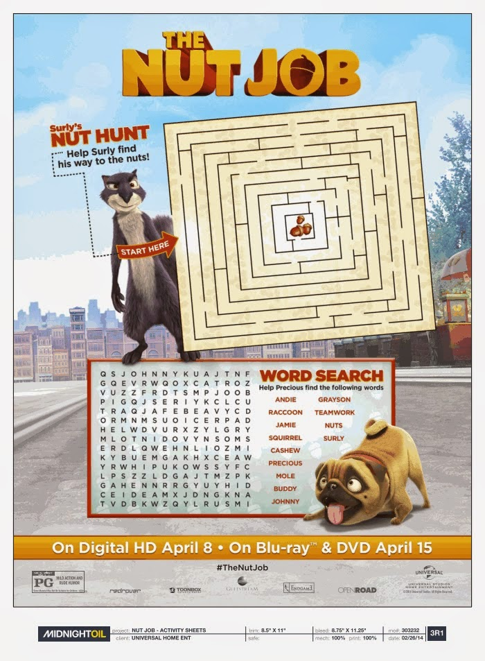 Heck Of A Bunch: The Nut Job - Blu-ray/DVD Combo Pack Giveaway