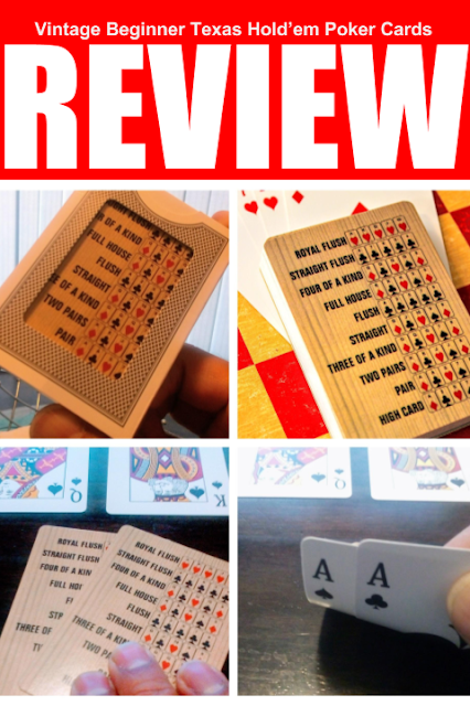 Vintage Beginner Texas Hold'em Poker Cards - A four picture collage of poker cards.