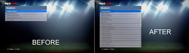 PES 2016 Unlock Stadiums Linking and Names for Pack Stadiums Europe