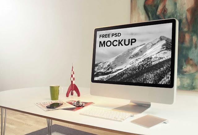 Laptop & iMac PSD Mockup