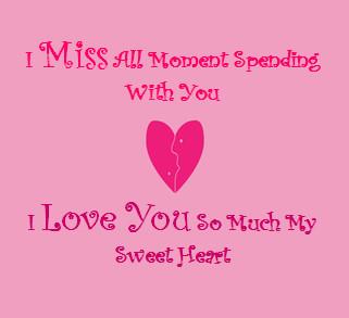 I miss u husband