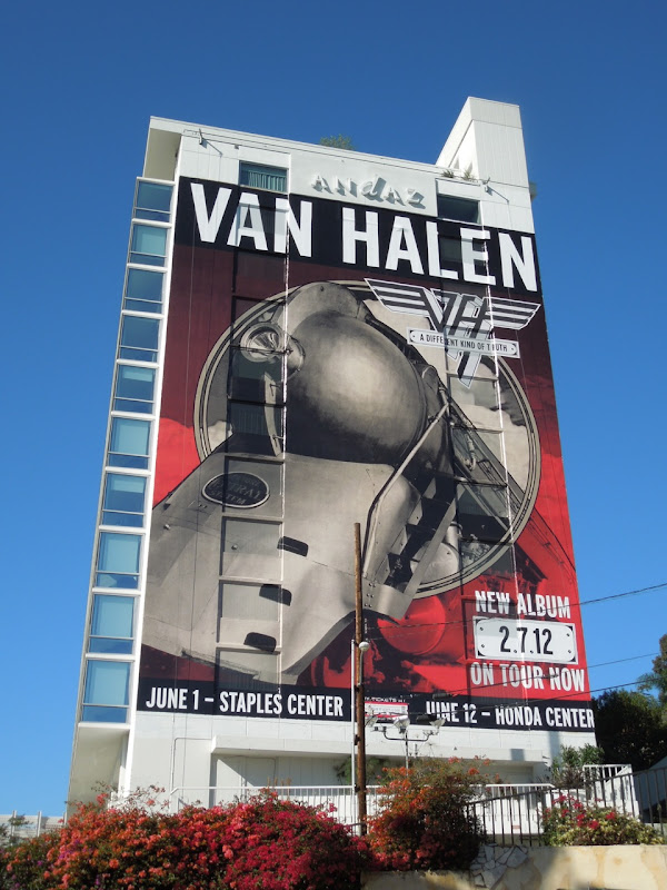 Giant Van Halen 2012 tour billboard