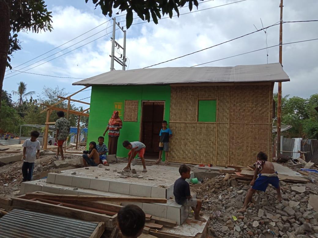 Rumah Hunian Sementara Bantu Pulihkan Psikologis Penyintas Gempa Lombok