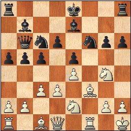 Partida de ajedrez Velat - Pérez-Peñamaría 1967, posición después de 15.Cg4