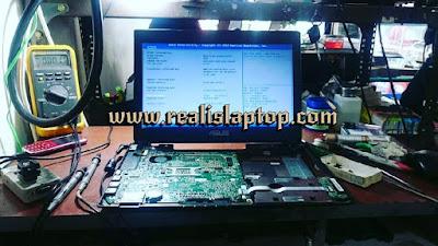 service laptop asus k45d tidak tampil di layar